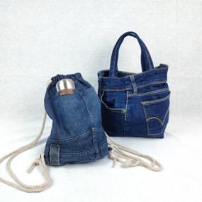 Blu Jeans Multitasca UPCYCLING NivesCoseBelle