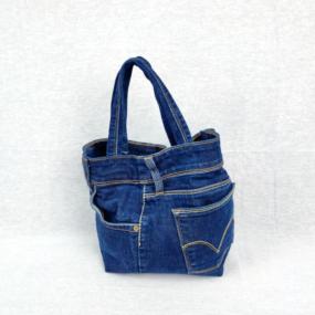 Borsetta Blu Jeans Multitasca UPCYCLING - PEZZO UNICO NivesCoseBelle
