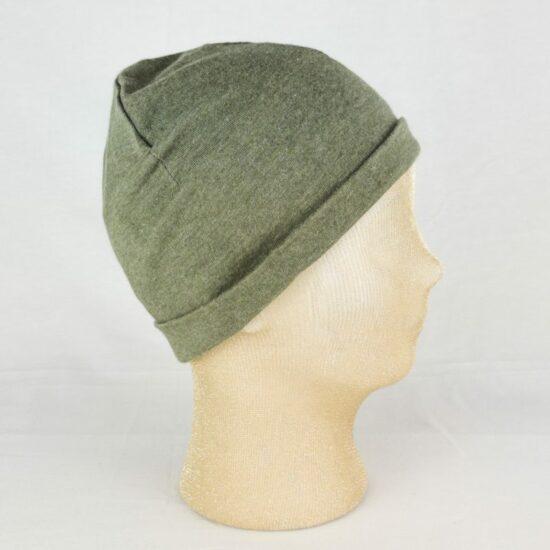 CUFFIA sport: berretto cotone verde militare NivesCoseBelle