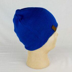CUFFIOSA blu: doppio strato lana e cotone sulla pelle NivesCoseBelle