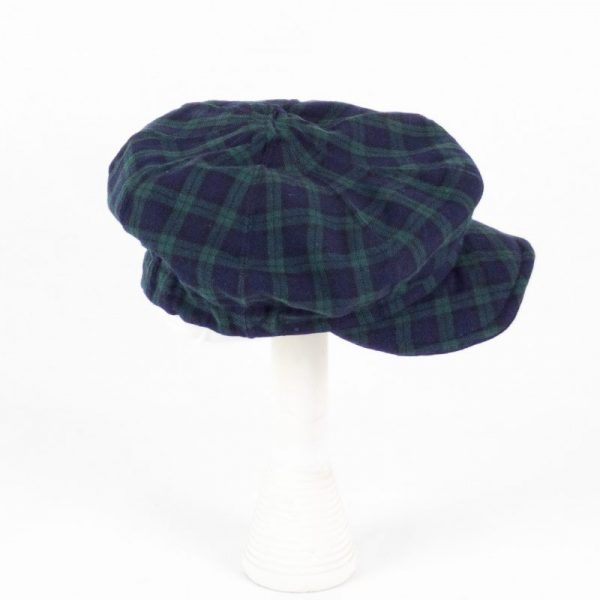 Berretto scozzese NEWSBOY, blu e verde NivesCoseBelle