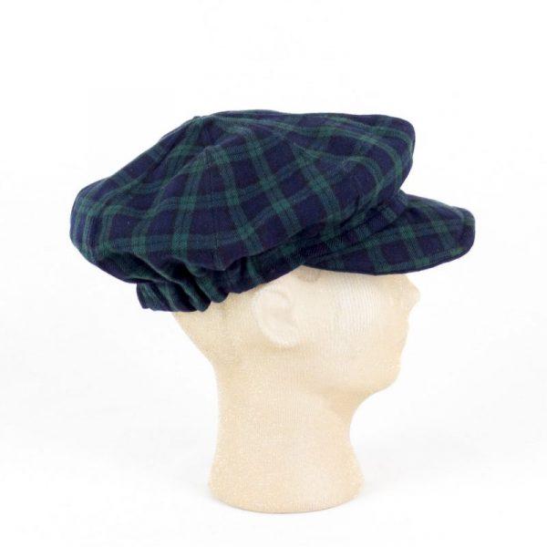 Berretto scozzese visiera NEWSBOY, blu e verde NivesCoseBelle