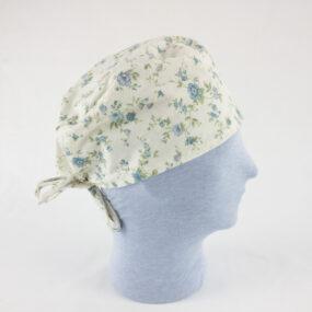 Cuffietta professionale badante nido caregiver fiori azzurro NivesCoseBelle