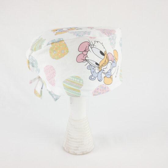 Bandana Diseny paperina, cuffietta nursery cuori NivesCoseBelle