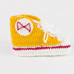 Scarpette gialle portafortuna bebè Scarpette BABY STAR NivesCoseBelle