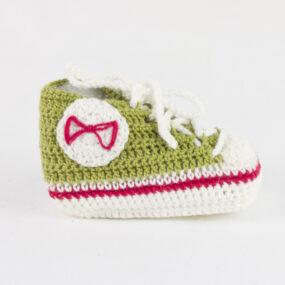 Scarpette portafortuna neonati verde BABY STAR NivesCoseBelle