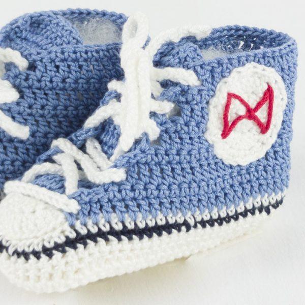 Scarpette neonato tennis blu avio BABY STAR NivesCoseBelle