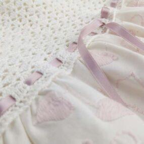 VESTITINO romantico rosa antico Bambina Fatto a mano NivesCoseBelle