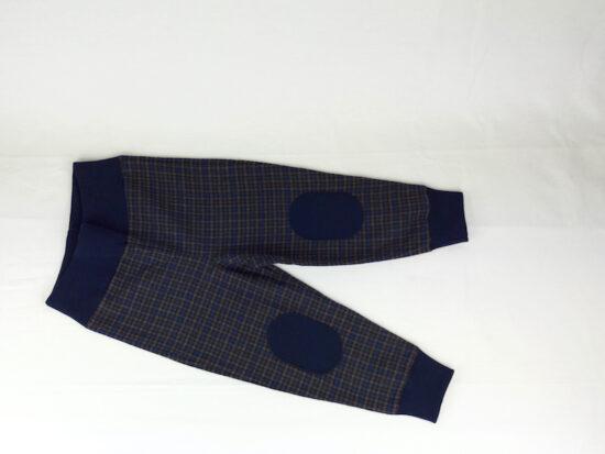 Pantaloni Sartoriali bambino PantaBaggy blu grigio scozzese